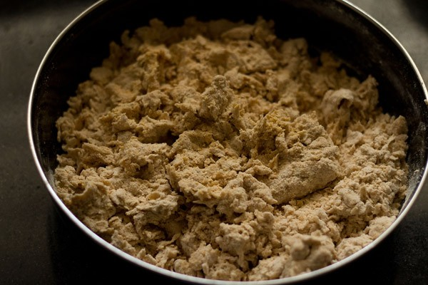 kneading masala poori dough