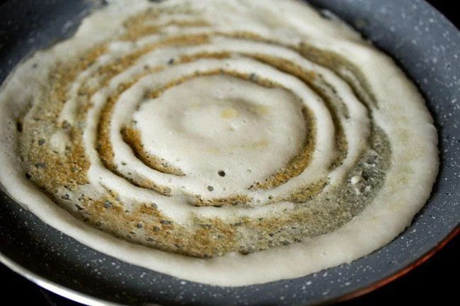 cooking dosa - masala dosa recipe