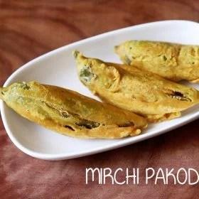 mirchi pakoda recipe