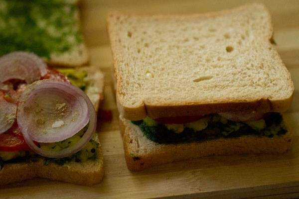 making Mumbai masala toast sandwich recipe