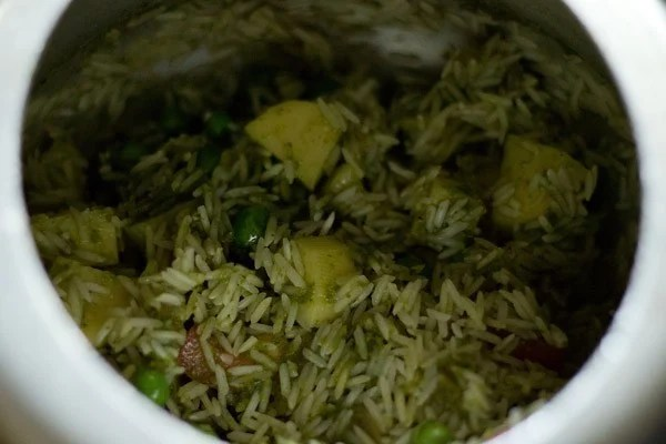 rice for pudina pulao recipe