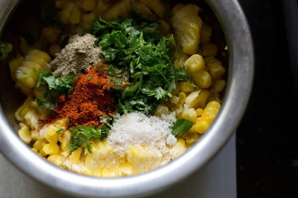 mix corn patties ingredients
