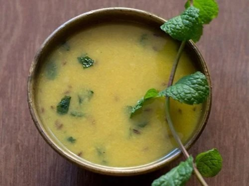 mint moong dal recipe