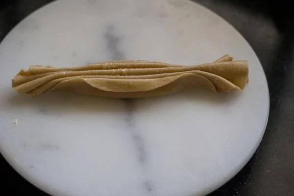 pleated lachha paratha dough