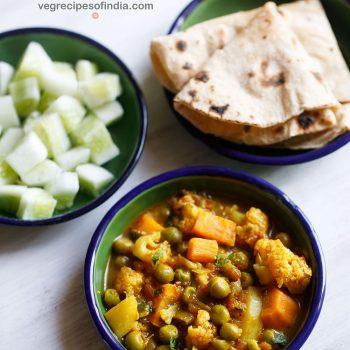recette végétarienne de mélange sain | curry de légumes facile dans un pot