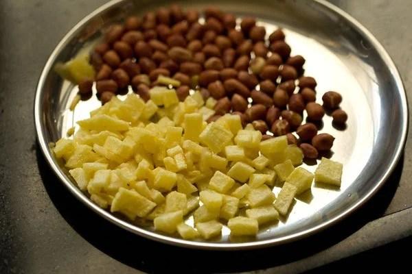 fried potatoes for aloo poha recipe
