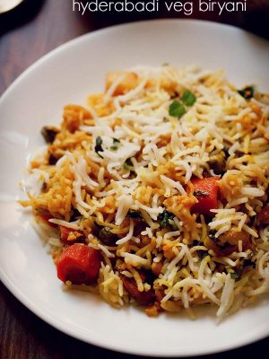 veg biryani recipe | how to make biryani recipe | hyderabadi dum biryani