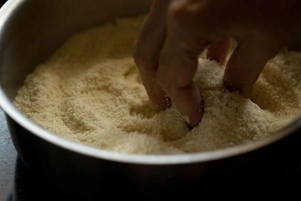 making puri dough