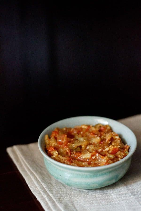 baingan bharta recipe, baingan bharta, Punjabi baingan bharta recipe