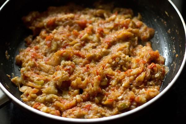 saute - baingan bharta recipe