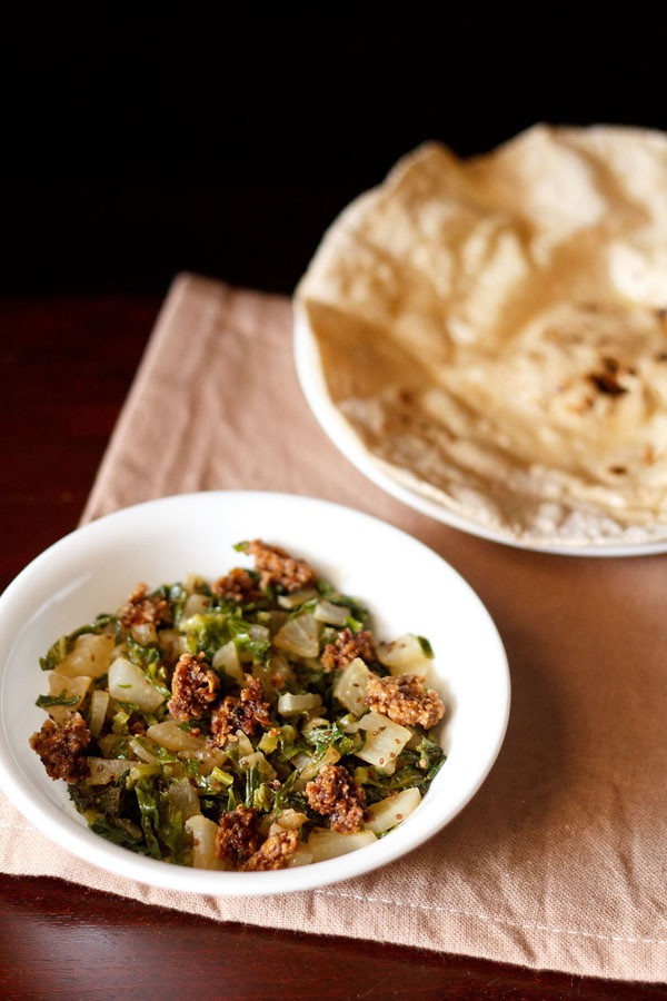 Punjabi mooli sabzi wadi recipe