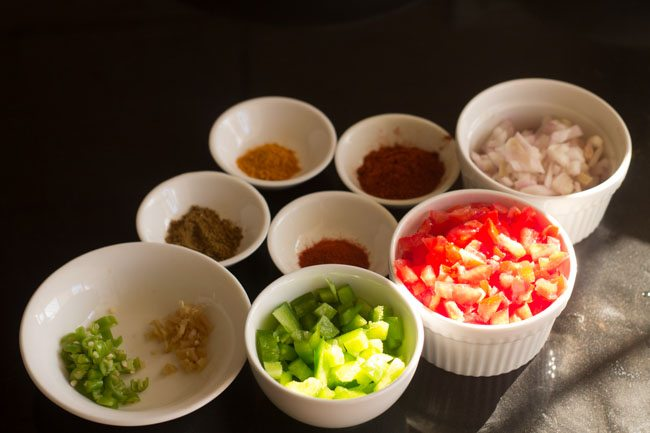 preparing khada pav bhaji recipe