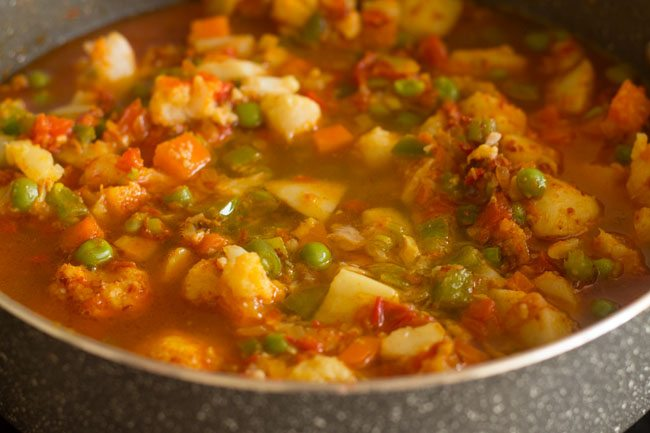making khada pav bhaji recipe