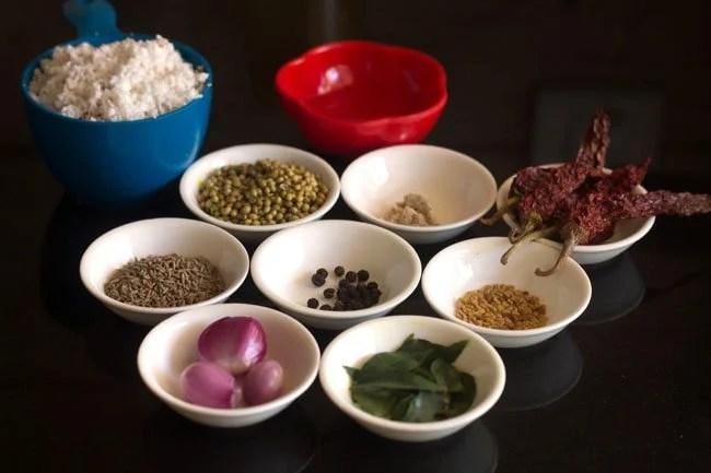making Kerala style sambar recipe