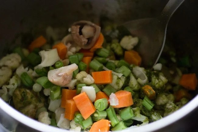mix veggies for Thai green curry