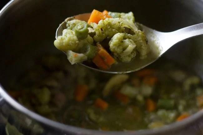 veggies for Thai green curry