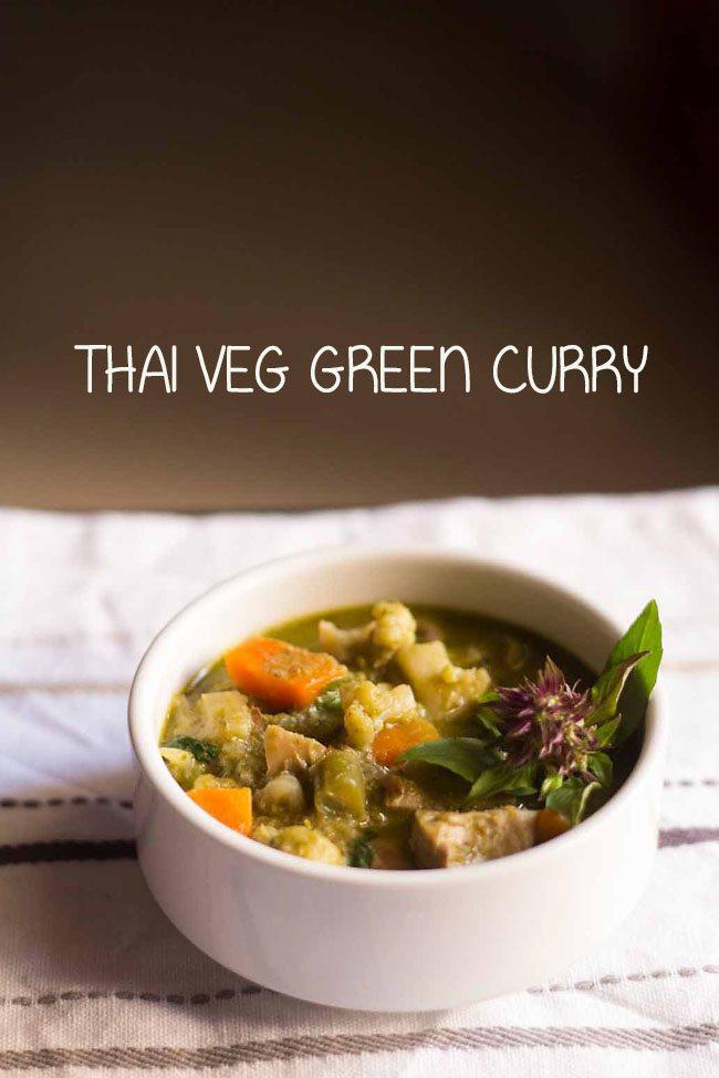 Thai veg green curry recipe