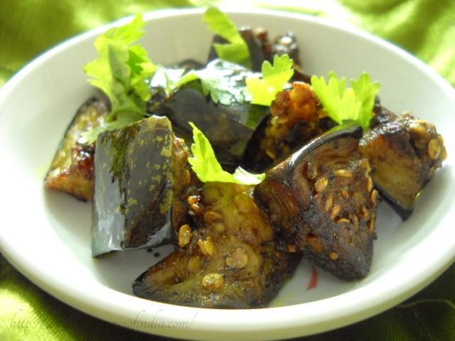 kalimirch baingan recipe, pepper aubergines recipe