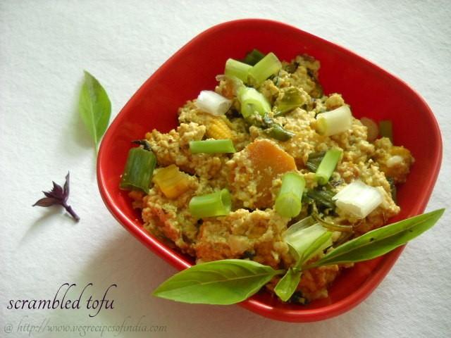 scrambled tofu recipe: thai scrambled tofu, scrambled tofu with vegetables