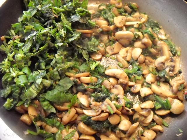 basil for mushroom spinach recipe