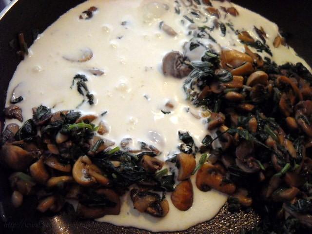 cream for mushroom spinach recipe