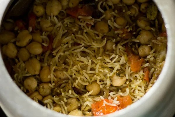 chana pulao recipe, chole pulao recipe, chickpea rice recipe, chana rice recipe
