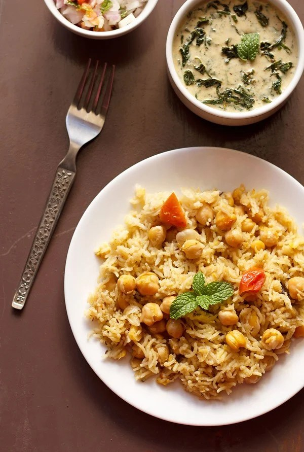 chana pulao, chana rice
