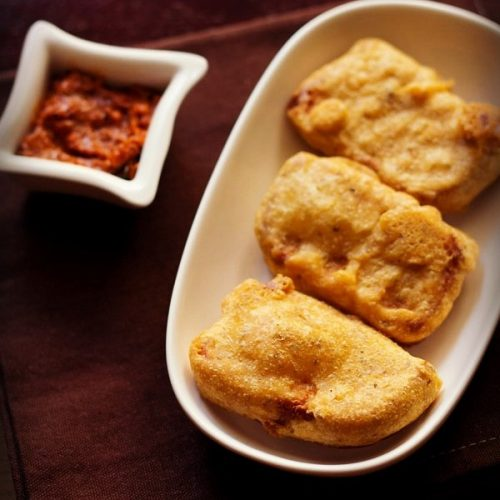 bread pakoda recipe, plain bread pakora recipe