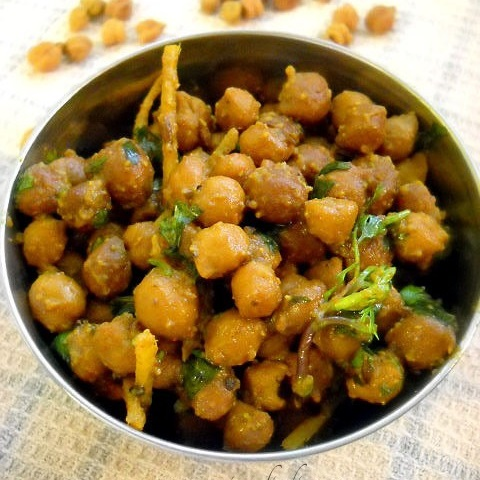 dry chana masala recipe, dry kala chana recipe