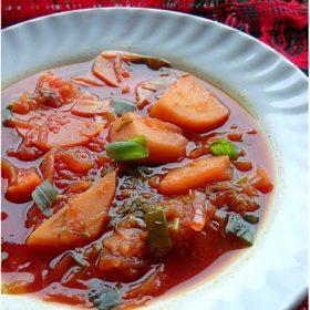 borscht soup, veg borscht