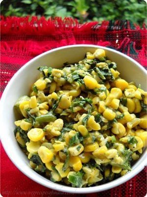 cheese spinach corn