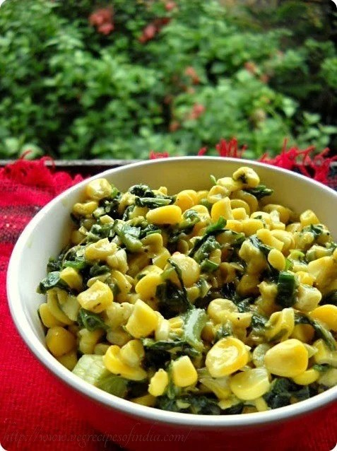 cheese spinach corn
