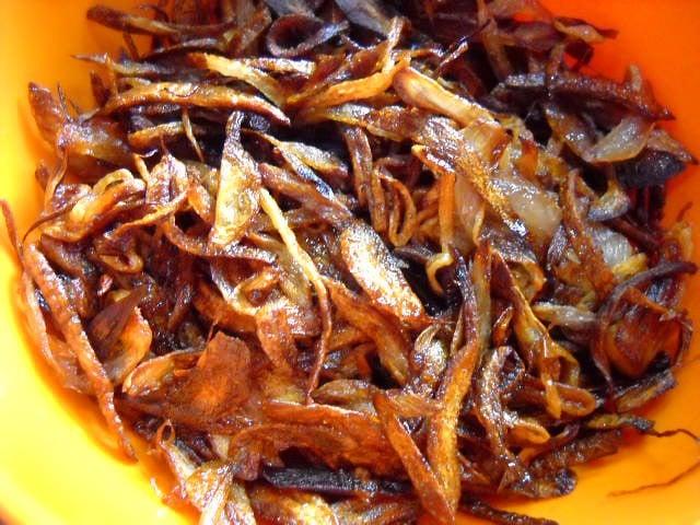 birista fried onions for mushroom biryani recipe