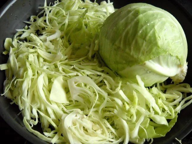 sliced cabbage for cabbage upkari recipe