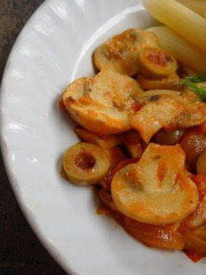tomato mushroom pasta recipe, tomato mushroom pasta