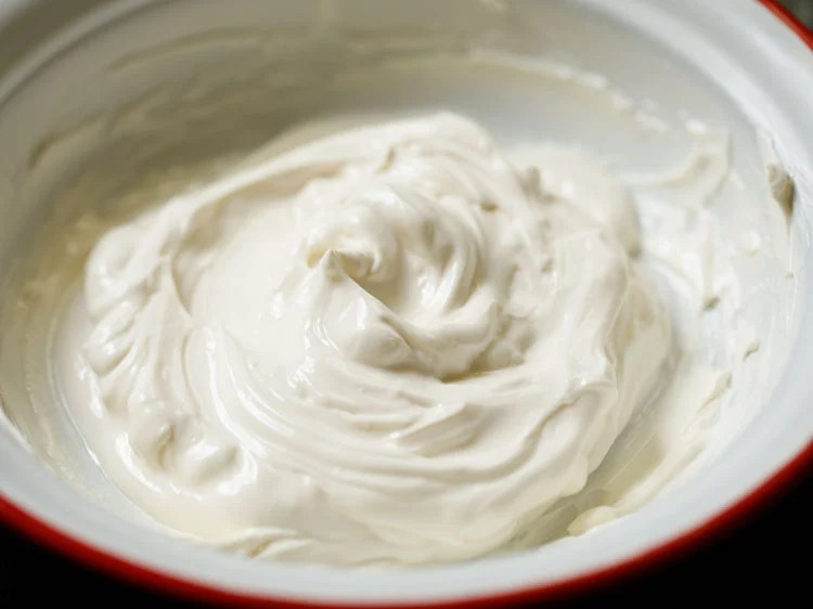 hung curd (greek yogurt) in a bowl