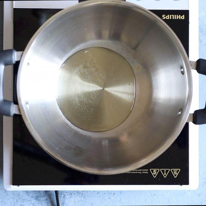 oil for kadai paneer recipe
