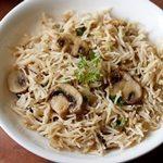 mushroom pulao in cooker