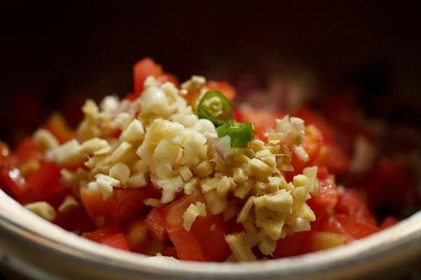 cooking rajma masala