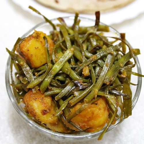 moongre ki sabzi recipe, radish pods recipe