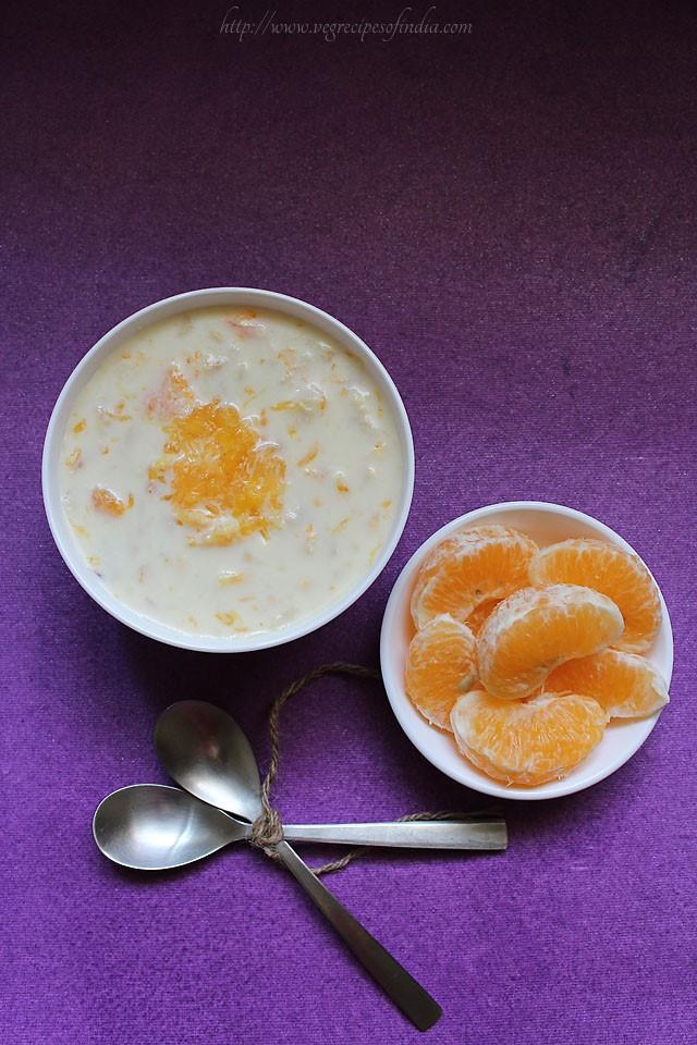 Indian orange kheer recipe