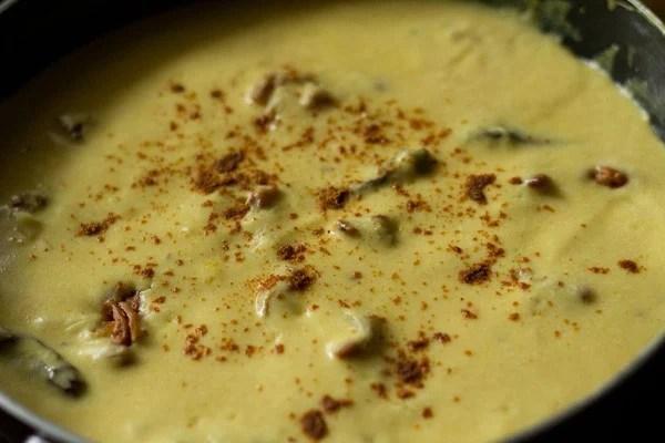 garam masala powder sprinkled on kadhi recipe