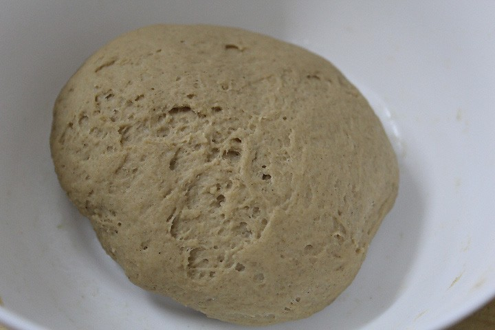 knead the dough for naan