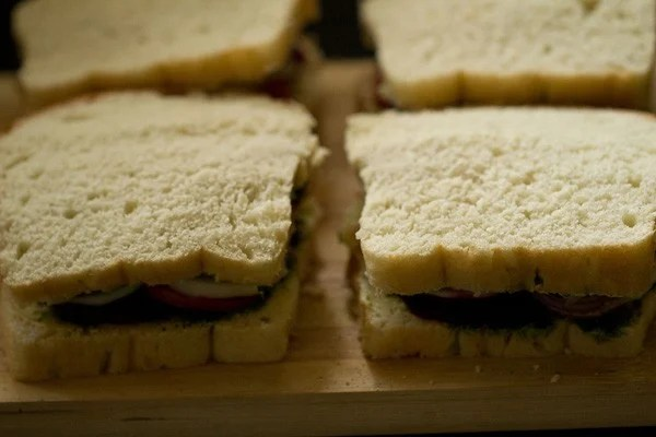 veg sandwich recipe, Bombay sandwich recipe, how to make veg sandwich recipe