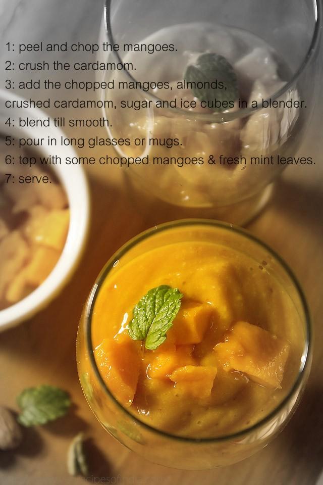 eggless mango almond smoothie recipe