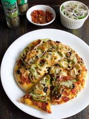 veg pizza recipe, pizza recipe