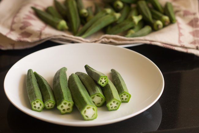 okra without head and tail