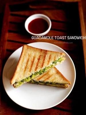 guacamole sandwich, guacamole toast sandwich recipe