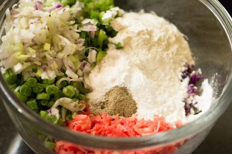 veggies to make veg manchurian gravy recipe