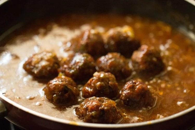 veg manchurian gravy recipe